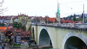 Άποψη του παλαιού κέντρου πόλεων της Βέρνης απόθεμα βίντεο
