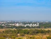 Άποψη του παλατιού του Mysore από τους λόφους Chamundi, Mysore, Karnataka, Ινδία Στοκ εικόνα με δικαίωμα ελεύθερης χρήσης