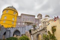 Άποψη του παλατιού Palacio Nacional DA Pena Pena, Sintra, Πορτογαλία Στοκ φωτογραφία με δικαίωμα ελεύθερης χρήσης