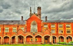 Άποψη του πανεπιστημίου της βασίλισσας στο Μπέλφαστ στοκ φωτογραφία με δικαίωμα ελεύθερης χρήσης