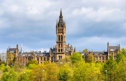Άποψη του πανεπιστημίου της Γλασκώβης στοκ εικόνες με δικαίωμα ελεύθερης χρήσης