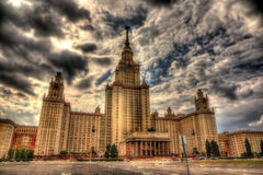 Άποψη του πανεπιστημίου της Μόσχας στοκ εικόνα