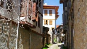 Άποψη του παραδοσιακού οθωμανικού από την Ανατολία χωριού, Safranbolu, Τουρκία απόθεμα βίντεο
