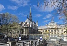 Άποψη του παρεκκλησιού Άγιος-Chapelle Γαλλία Παρίσι Στοκ εικόνα με δικαίωμα ελεύθερης χρήσης