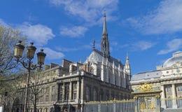 Άποψη του παρεκκλησιού Άγιος-Chapelle Γαλλία Παρίσι Στοκ φωτογραφίες με δικαίωμα ελεύθερης χρήσης