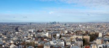 Άποψη του Παρισιού από την κορυφή Στοκ φωτογραφίες με δικαίωμα ελεύθερης χρήσης