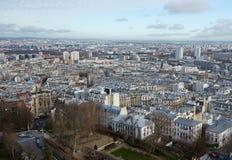 Άποψη του Παρισιού από την κορυφή Στοκ φωτογραφία με δικαίωμα ελεύθερης χρήσης