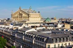 Άποψη του Παρισιού από τη στέγη του πολυκαταστήματος Printemps Στοκ εικόνες με δικαίωμα ελεύθερης χρήσης