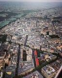 Άποψη του Παρισιού, Γαλλία από τον πύργο του Άιφελ Στοκ εικόνα με δικαίωμα ελεύθερης χρήσης