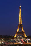 Άποψη του Παρισιού και του πύργου Άιφελ. Ο πύργος του Άιφελ είναι πιό πολύ Στοκ φωτογραφία με δικαίωμα ελεύθερης χρήσης