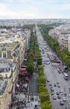 Άποψη του Παρισιού Champ Elysees Στοκ Εικόνα