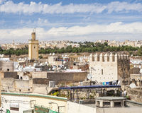 Άποψη του παλαιού medina σε Fes Στοκ φωτογραφία με δικαίωμα ελεύθερης χρήσης