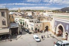 Άποψη του παλαιού medina σε Fes Στοκ Εικόνα
