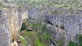 Άποψη του πεζουλιού κρυστάλλου στο φαράγγι incekaya, safranbolu, Τουρκία, απόθεμα βίντεο