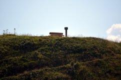 Άποψη του περάσματος Gardena στο βουνό δολομίτη στοκ φωτογραφία