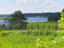 άποψη του ποταμού από το λόφο Στοκ Φωτογραφίες
