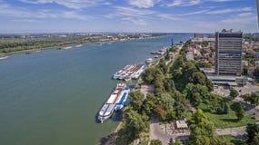 Άποψη του ποταμού Δούναβη άνωθεν Στοκ φωτογραφία με δικαίωμα ελεύθερης χρήσης