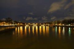 Άποψη του ποταμού και Pont des Invalides Saine από Pont Alexandre ΙΙΙ Στοκ Φωτογραφία