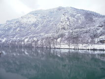 Άποψη του ποταμού στη Βοσνία στοκ εικόνες με δικαίωμα ελεύθερης χρήσης