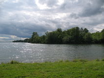 Άποψη του ποταμού του ST Lawrence Στοκ Εικόνες