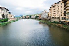 Άποψη του ποταμού Φλωρεντία Arno στοκ φωτογραφία