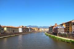 Άποψη του ποταμού Arno στην Πίζα στοκ φωτογραφίες με δικαίωμα ελεύθερης χρήσης