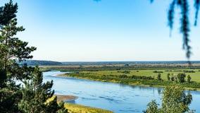 Άποψη του ποταμού του Tom Τομσκ Ρωσία στοκ εικόνα