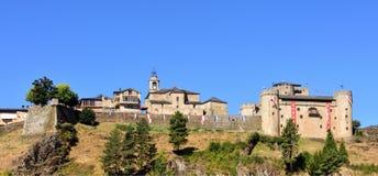 Άποψη του Πουέμπλα de Sanabria, Zamora επαρχία, Καστίλλη-Leon, Spai στοκ εικόνες με δικαίωμα ελεύθερης χρήσης