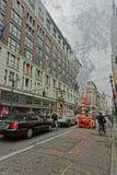 Άποψη του πολυκαταστήματος Macys Herald το τετραγωνικό Μανχάταν Στοκ Εικόνα