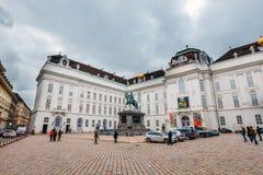 Άποψη του προαυλίου του παλατιού Hofburg στη Βιέννη, Αυστρία Στοκ Εικόνα