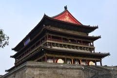 Άποψη του πύργου τυμπάνων Xian, Κίνα στοκ εικόνα με δικαίωμα ελεύθερης χρήσης