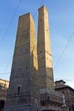 Άποψη του πύργου asinelli - Μπολόνια Στοκ Εικόνες