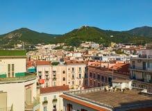 Άποψη του Σαλέρνο και Castello Di Arech Campania, Ιταλία Στοκ Εικόνες