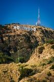 Άποψη του σημαδιού Hollywood από το Drive λιμνών φαραγγιών, στο Los Angele Στοκ εικόνες με δικαίωμα ελεύθερης χρήσης