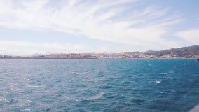Άποψη του σημείου εισόδων της Ceuta για τους παράνομους υπο- της Σαχάρας μετανάστες στην ΕΕ φιλμ μικρού μήκους