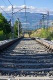Άποψη του σιδηροδρόμου και της αψίδας Στοκ Φωτογραφία
