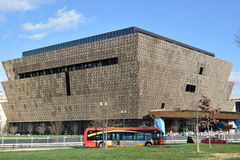 Άποψη του σμιθσονιτικού Εθνικού Μουσείου της ιστορίας και του πολιτισμού αφροαμερικάνων (NMAAHC) Washington DC, ΗΠΑ Στοκ Φωτογραφία