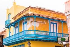 Άποψη του σπιτιού διαμερισμάτων, Αβάνα, Κούβα διάστημα αντιγράφων Στοκ φωτογραφία με δικαίωμα ελεύθερης χρήσης