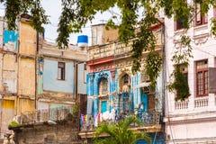 Άποψη του σπιτιού διαμερισμάτων, Αβάνα, Κούβα Στοκ φωτογραφία με δικαίωμα ελεύθερης χρήσης