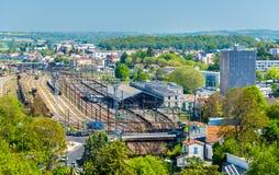 Άποψη του σταθμού τρένου στο Angouleme, Γαλλία Στοκ εικόνες με δικαίωμα ελεύθερης χρήσης