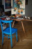 Άποψη του στούντιο του καλλιτέχνη στοκ φωτογραφία με δικαίωμα ελεύθερης χρήσης