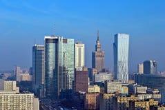 Άποψη του σύγχρονου κέντρου της Βαρσοβίας Στοκ φωτογραφία με δικαίωμα ελεύθερης χρήσης