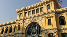 Άποψη του ταχυδρομείου σε Saigon, Βιετνάμ απόθεμα βίντεο