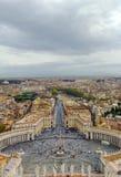 Άποψη του τετραγώνου του ST Peter και της Ρώμης, Βατικανό Στοκ Εικόνα