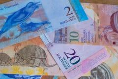 Άποψη του της Βενεζουέλας νομίσματος/bolivares στοκ εικόνα με δικαίωμα ελεύθερης χρήσης