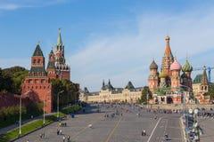 Άποψη του τοίχου της κόκκινης πλατείας, Μόσχα, Ρωσία στοκ εικόνες