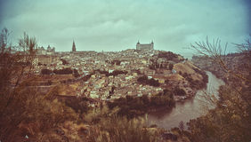 Άποψη του Τολέδο και του ποταμού Tagus Στοκ Φωτογραφία