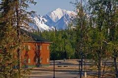 Άποψη του υποστηρίγματος McKinley, Αλάσκα, ΗΠΑ Στοκ εικόνα με δικαίωμα ελεύθερης χρήσης