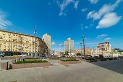 Άποψη του Υπουργείου ξένου - υποθέσεις, πλατεία Smolenskaya- Sennaya στοκ φωτογραφία με δικαίωμα ελεύθερης χρήσης