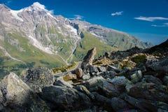 Άποψη του υψηλού αλπικού δρόμου Hochalpenstrasse Grossglockner στοκ φωτογραφίες με δικαίωμα ελεύθερης χρήσης